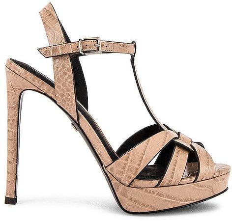 Mavra Croco High Heel Sandal
