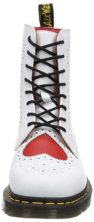 Dr. Martens Bentley II HRT, Bottes Chukka Femme, Blanc (White/Heart Red Venice/Smooth), 39 EU: Amazon.fr: Chaussures et Sacs