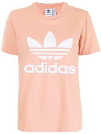 Adidas Trefoil logo-print Cotton T-shirt - Farfetch