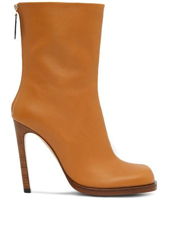 Shop brown Burberry 100 mm Vintage Check-lined boots with Express Delivery - Farfetch