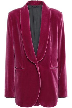 Grape Bead-embellished cotton-velvet blazer | Sale up to 70% off | THE OUTNET | BRUNELLO CUCINELLI | THE OUTNET