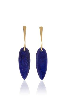 Lisa Eisner Lapis Slender Spear Earrings