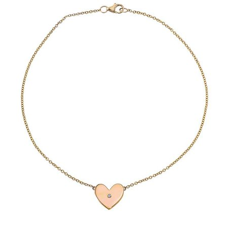 Classic Heart Bracelet with Single Diamond - GiGi Ferranti Jewelry
