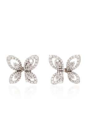 18K White Diamond Butterfly Earrings by Yeprem | Moda Operandi
