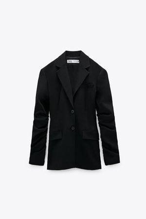 RUCHED SLEEVE BLAZER | ZARA United States