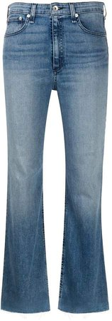 faded cropped jeans