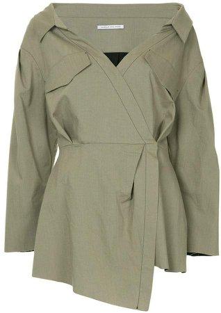 Mead drop-shoulder blouse