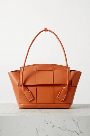 Arco Medium Intrecciato Leather Tote - Light brown