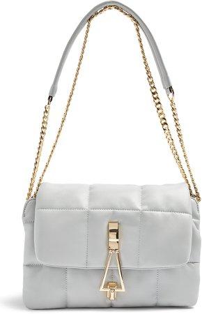 Triangle Quilted Shoulder Bag