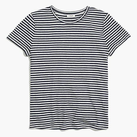 Striped tie-back T-shirt