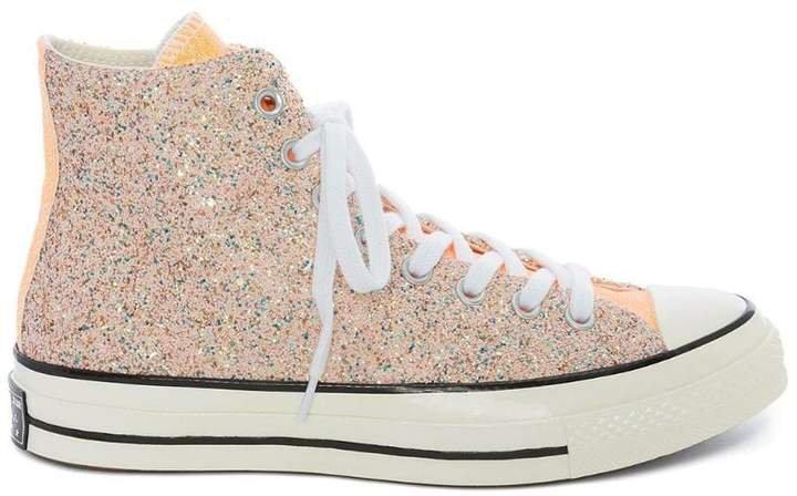 Converse X pastel glitter hi-top sneakers