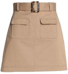 Belted Cotton-gabardine Mini Skirt