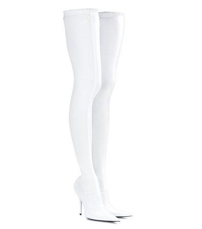 White Knee high boots - pinterest