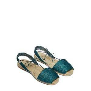 Ball Pagès teal espadrille sandals