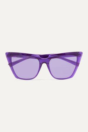 Purple Oversized cat-eye acetate sunglasses | Balenciaga | NET-A-PORTER