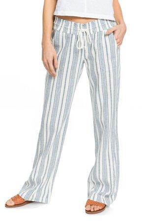 Roxy Oceanside Tie Waist Pants   Nordstrom