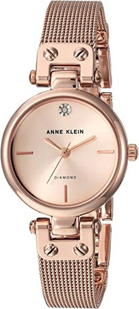 Amazon.com: Anne Klein Women's Quartz Metal and Stainless Steel Dress Watch, Color:Rose Gold-Toned: Clothing