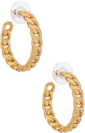 Curb Chain Hoop Earring