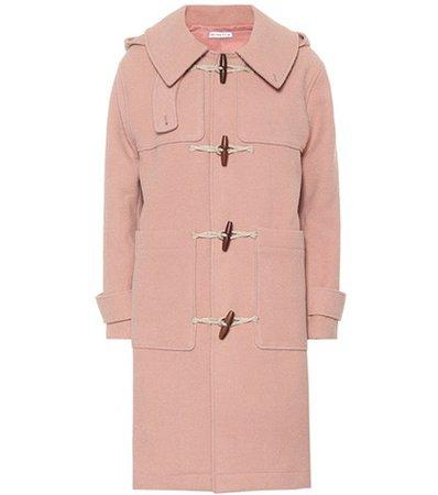 Lila wool-blend duffel coat