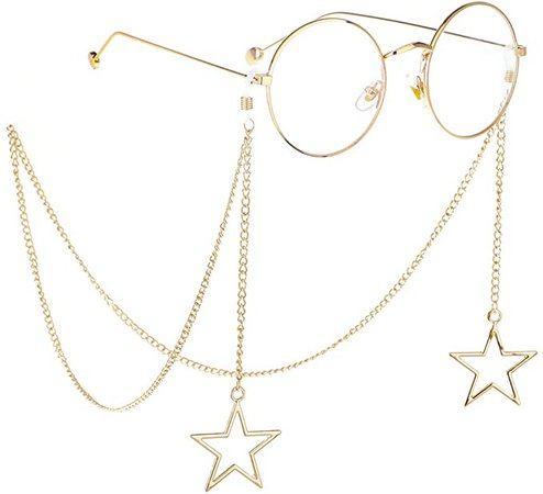 Naimo 2PCS Pearl Star Pendant Eyeglass Chains Eyewear Strap Holder Reading Glasses Retainer at Amazon Women's Clothing store