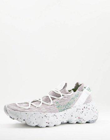 Nike Space Hippie 04 sneakers in summit white/mean green   ASOS