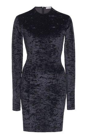 Balenciaga Crushed Velvet Mini Dress