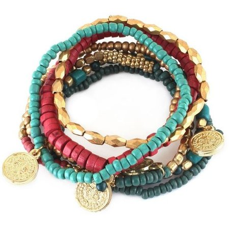 Bead and Coin Charm Bracelets