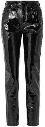 Vinyl Slim-leg Pants