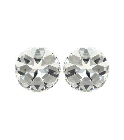Crystal-Embellished Clip-On Earrings - Saint Laurent | Mytheresa