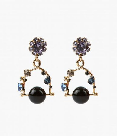 Jewel Swing Clip Earrings - SHOP