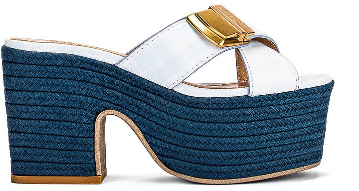 Les Sandales Tatanes in Print Blue Checked | FWRD