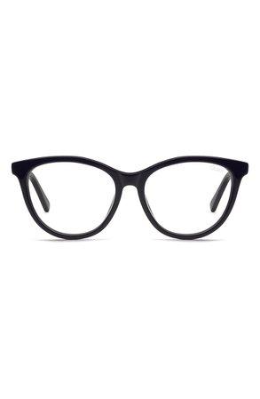 Quay Australia All Nighter 50mm Blue Light Blocking Optical Glasses   Nordstrom