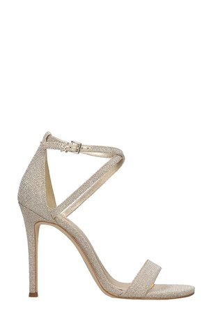 MICHAEL Michael Kors Antonia Sandals In Gold Glitter