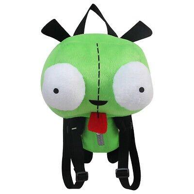 Alien Invader Zim Gir Plush Backpack School Bag Shoulder Bag Gift 14 inch Green | eBay