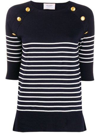Snobby Sheep nautical knitted top