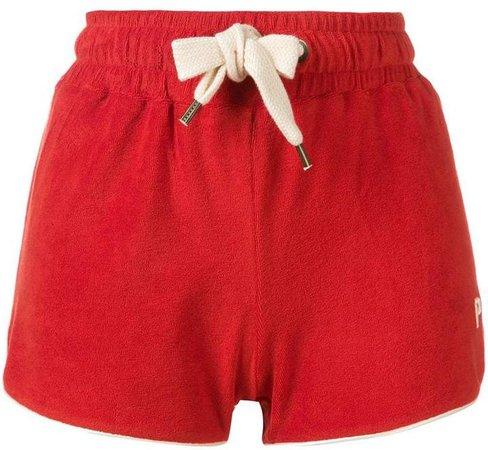 striped trim shorts