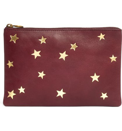Madewell Star-Embossed Leather Pouch Clutch | Nordstrom
