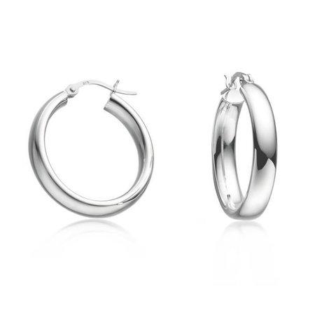 silver mini hoop earrings