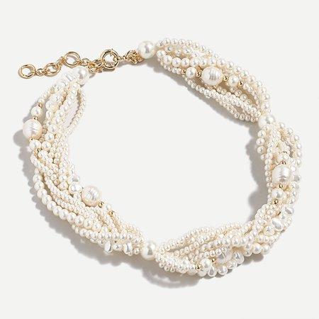 Pearl Twisty pearl statement necklace PEARL j.crew: twisty pearl statement necklace for women J.Crew: Twisty Pearl Statement Necklace For Women