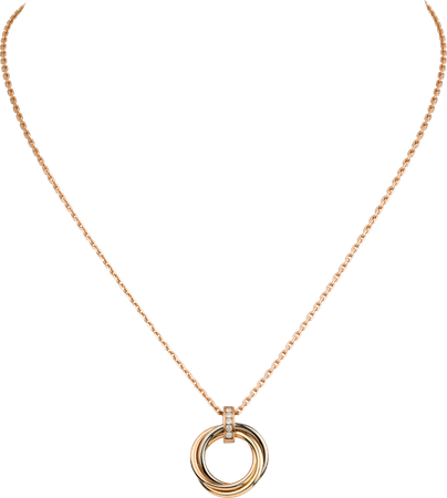 CRB7058700 - Trinity necklace - White gold, yellow gold, pink gold, diamonds - Cartier