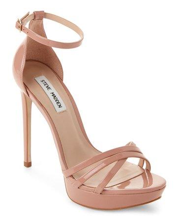 Blush Cassandra Metallic Strappy Platform Sandals - Century 21