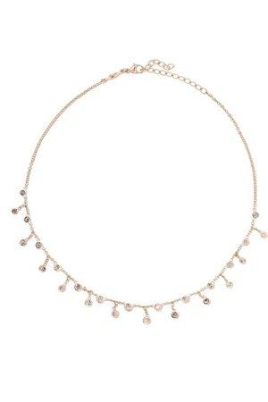 Jacquie Aiche   14-karat rose gold diamond necklace   NET-A-PORTER.COM