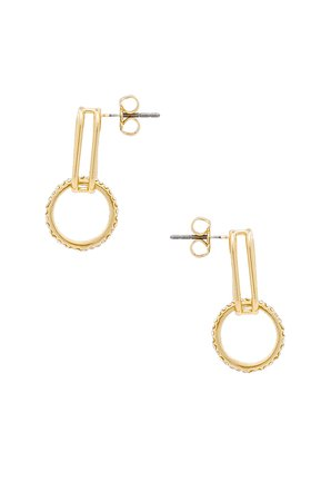 Pave Ring Baby Earrings