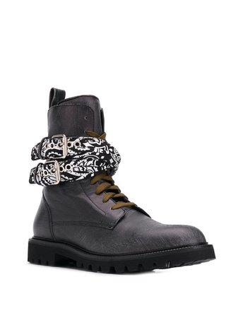 Amiri Bandana Combat Boots   Farfetch.com