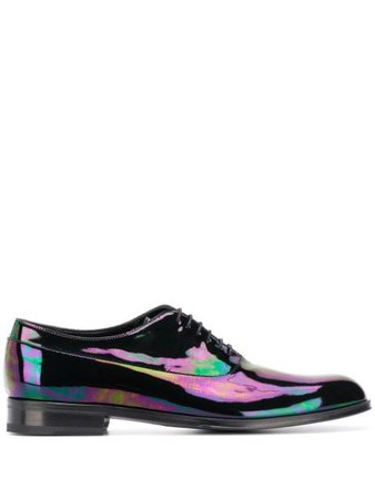 Paul Smith Iridescent Noam Oxford Shoes M1SNOA04APET Black | Farfetch