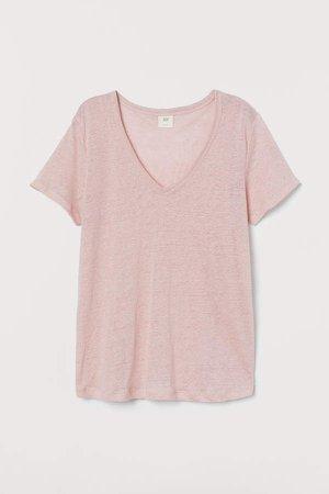 Linen Jersey Top - Pink
