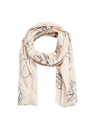 MANGO Silhouette scarf