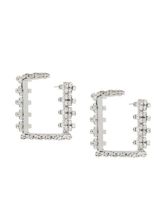 AREA Crystal Hoop Earrings - Farfetch