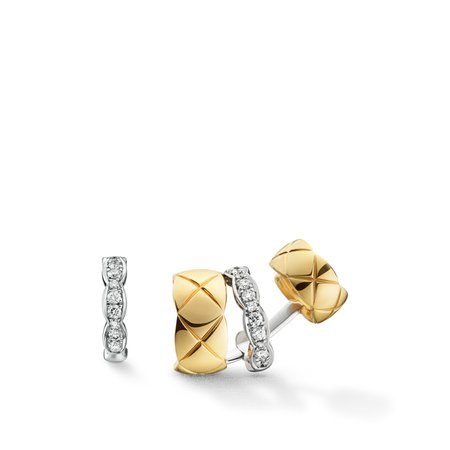 Coco Crush earrings in yellow & white gold