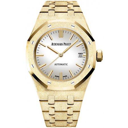 15454BA.GG.1259BA.02 Audemars Piguet Royal Oak Frosted Gold Watch